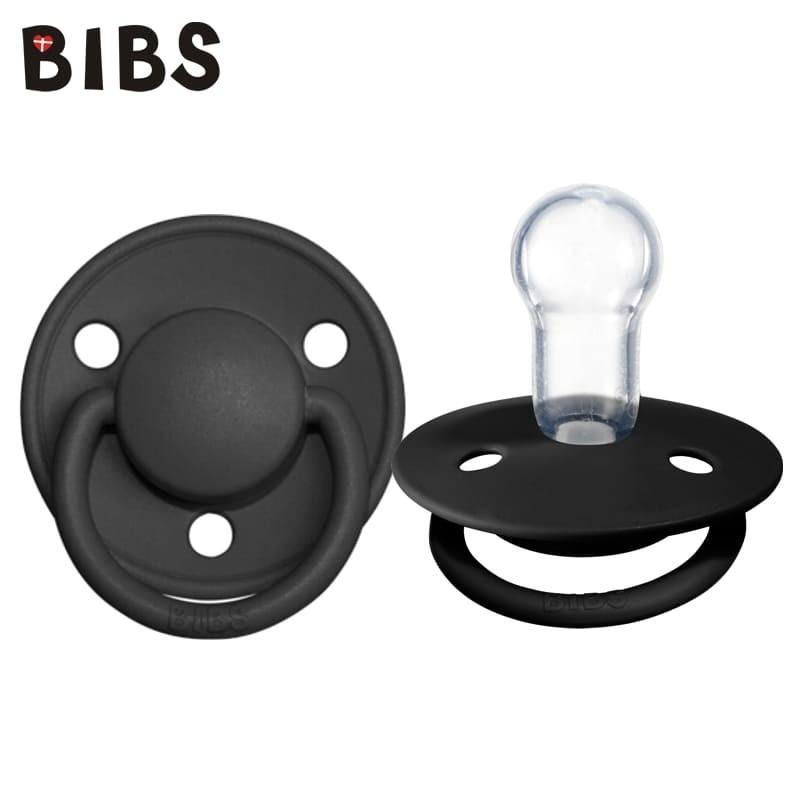 bibs-de-lux-black-one-size-smoczek-uspokajajacy-silikonowy
