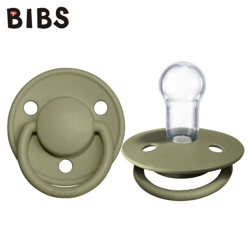 bibs-de-lux-olive-one-size-smoczek-uspokajajacy-silikonowy